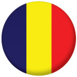 Chad Country Flag 25mm Keyring